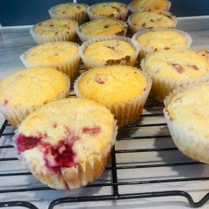 Keto Raspberry Muffins